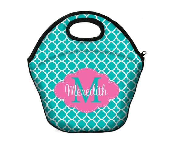 Insulated Lunch Bag Monogrammed Lunch Box Lunch Tote For Girls Personalized Lunchbox For Women Custom Monogram Lunch Bag Monogrammed Gifts