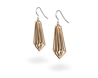 Crystal wood - Birch Crystal Earrings