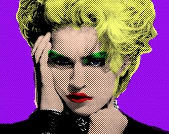 Print, Madonna Pop Art Portrait