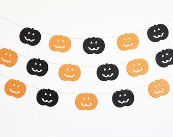 Pumpkin Jack o Lantern Party Banner - Customizable Colors