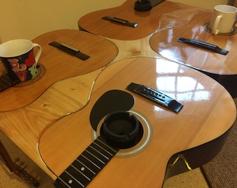 """Guitar table (Guitable) model the """"STRAIGHT"""" Perfect for any living/dining/hall/bedroom, man cave or she shed!"""