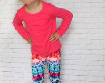 Baby Leggings - Girls Leggings - Baby Girl Leggings - Aztec Leggings - Toddler Leggings - Fashion Leggings - Colorful Leggings - Leggings