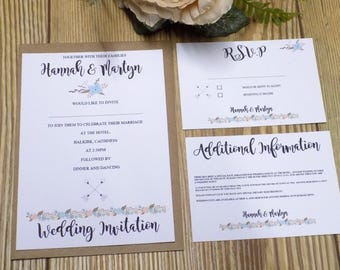 Fresh Floral Wedding Invitation set