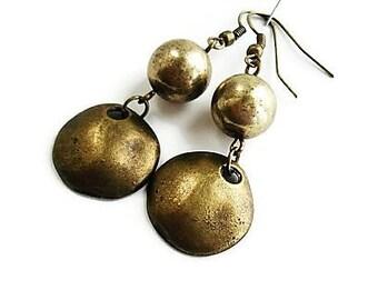 Tribal Earrings Boho Jewelry Long Earrings Bohemian Jewelry Brass Earrings Everyday Jewelry Gypsy Earrings Statement Jewelry Rustic Earrings