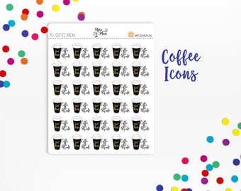 Coffee Break Icons- Planner Stickers