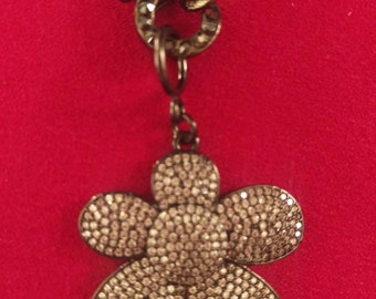 Pave Flower Necklace