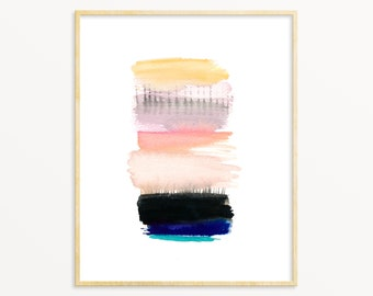 Colorful Abstract Art Print. Modern Pastel Art. Contemporary Home Decor. Minimalist Art Print. Simple Abstract.