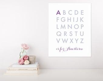Personalised Custom Name Alphabet Print