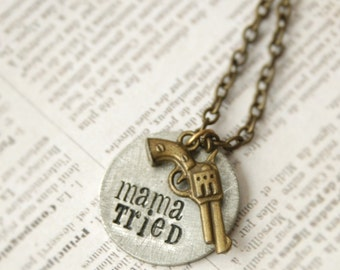"Hand Stamped Necklace - ""Mama Tried"" By Inspired Jewelry Designs"
