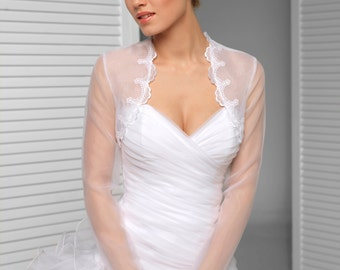 Long sleeve Bridal Shrug Lace Wedding Bolero Wedding Shrug