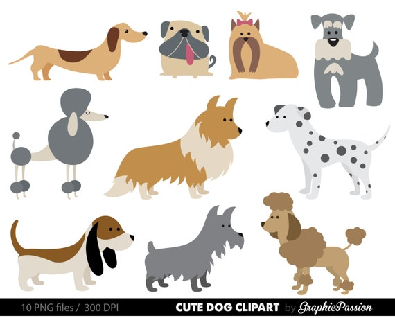 dog clipart puppy clipart cute dogs clip art puppy clipart rh etsy com clipart of dogs with teeth rattling clipart of dogs beagles