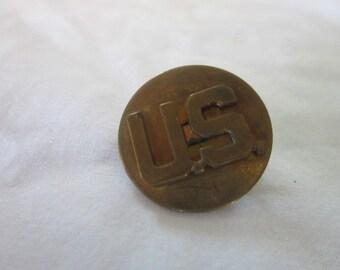 """C 1942 WW 2 U S Army Air Force Collar Insignia  """" U. S. """""""