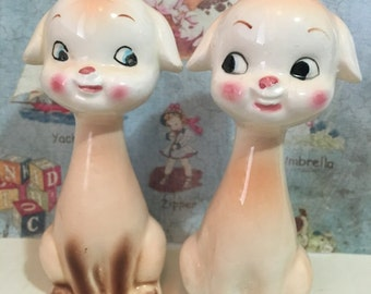 VERY RARE Vintage Sweet Kittens Cats Salt and Pepper Shakers Antique Collectibles or Cake Toppers