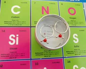 H2O water molecule earrings