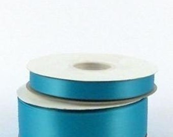 "7/8"" x 100 yards Double Face Satin - TURQUOISE"