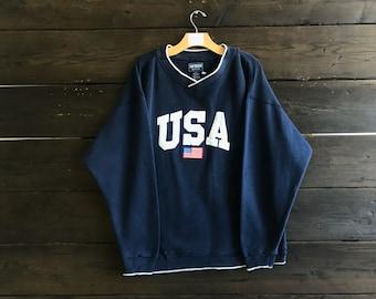 Vintage 90s South Bay USA Crew Neck Sweatshirt