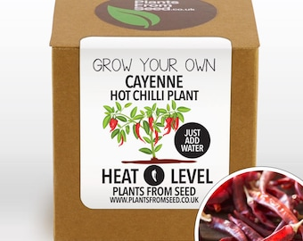 SALE NOW ON!!! - Grow Your Own Cayenne Pepper Chilli Plant Kit