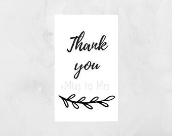Pure Elegance - Thank You Tag (Option 2)