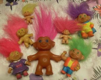 Miniature Vintage Troll Dolls