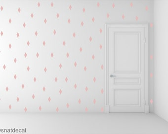 FREE SHIPPING 288 Rhombus Wall Decal Pink ,Nursery Wall decal. Vinyl Wall Decal. Wall Sticker. Kids Room Wall Decal.