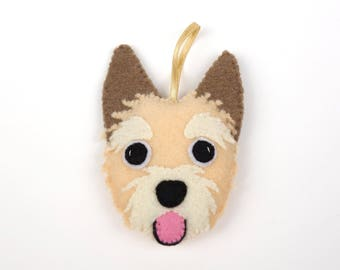 Felt Dog Ornament - Norwich Terrier