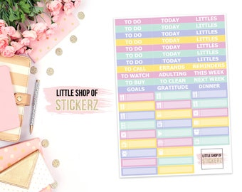 Easter | HEADERS SHEET ONLY, Planner Stickers, Weekly Planner Stickers, To Do Stickers, Stickers For Planners, Easter Header Stickers