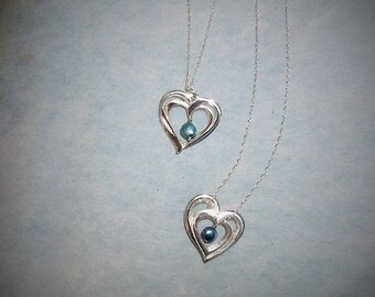 Sterling Silver Double Hearts
