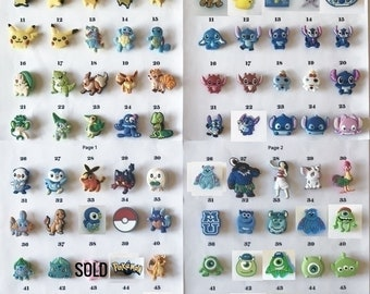 Croc shoe charms, listing #1, 1200+ charms choice(shoes)summer time, Jibbitz style, letters, Moana, Pokemon, MU, Stitch, Minion, Superheroes