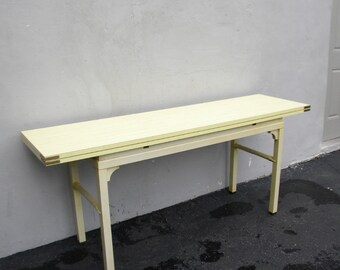 Long Mid-Century Hollywood Regency Painted Library Console Table 3314