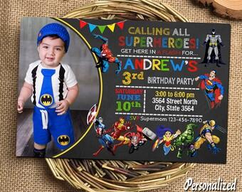 Superhero Invitation Superhero Birthday Superhero Birthday Invitation Superhero Party Superhero Printable Superhero Invitations Super hero
