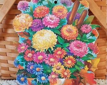 1960's Fall Flower Bouquet  Die Cut
