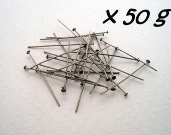 50g clous têtes plates bronze 40 mm - L50g476