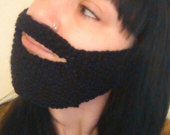 Hand knit beard