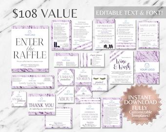 Purple Marble Salon Marketing Kit Marble Business Kit Monat Business Cards Monat Global Marketing Monat Business Card Instant Salon Cards