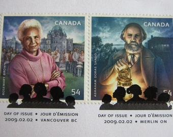 First Day Cover or Day of Issue Canadian Stamps, Black History Month, 2009 - For Collage & other Multi-Media Projects or, for Collecting!