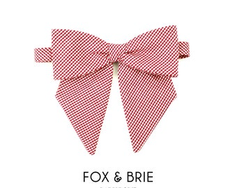Cherry Gingham Lady Bow Tie