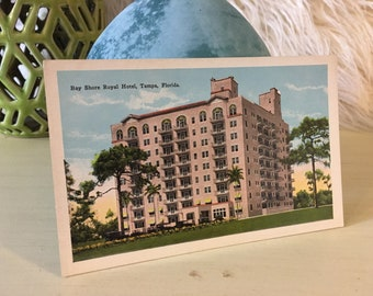 Bay Shore Royal Hotel, Tampa, Florida, Vintage Postcard