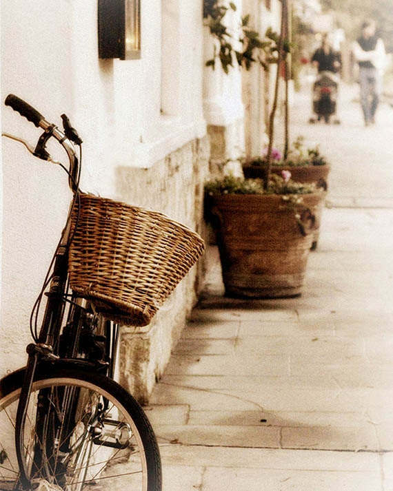 Art, Photography, Cottage Style, Coastal Home Decor, Bicycle, Cindy Taylor Photography, 4x6, 8x10, 11x14, or 16x20 inch print