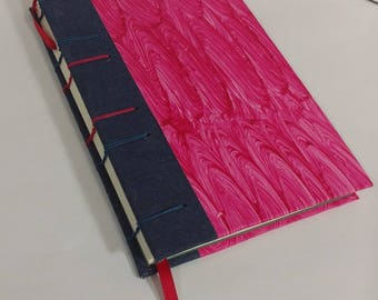 Red Paste Paper Coptic Bound Journal