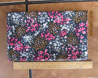 Fabric 1 Yard 18 Inches Pink White Blue Yellow Orange Flowers Polished Cotton Crafts Quilts