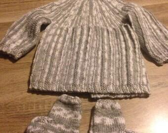 Cute gray baby set