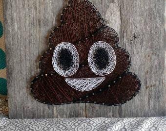 Poo Emoji String Art