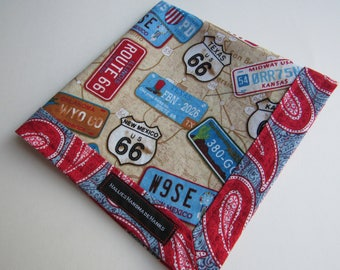 EDC Hank Route 66 Novelty EDC Hank Handmade Hank Everyday Carry Pocket Dump Hank Mens Handkerchief Gift for Him Gift for Her