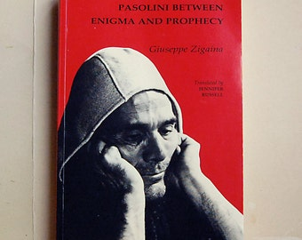 Vintage Book Pasolini Between Enigma and Prophecy by Giuseppe Zigaina 1991 Rare Filmmaking.