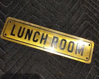 1950's Lunch Room Sign -Metal - Old & Original