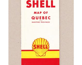 1958 Shell Map Quebec and Maritime Provinces. The H M Gousha Company