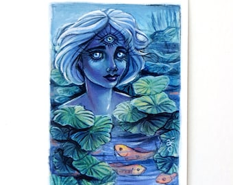 The Lady of the Lake - Limited Edition ACEO Giclée Fine Art Print