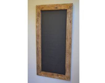 Rustic Framed Chalkboard 48x24 Restaurant Sign Menu Board Wedding Seating Chart