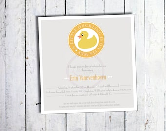 A little duckling is on the way - baby shower invitation - DIY - PRINT YOURSELF or purchase prints