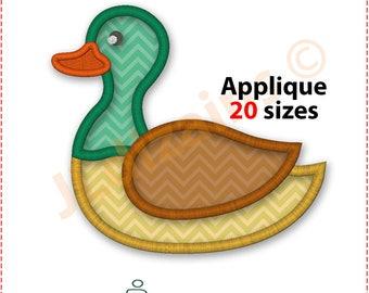 Mallard Duck Applique Design. Mallard duck embroidery design. Mallard applique. Mallard embroidery. Wild duck Machine embroidery design